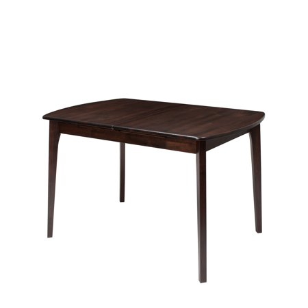 CorLiving Dillon Extendable Cappuccino Stained Oblong Dining Table - Oblong dining table with leaf