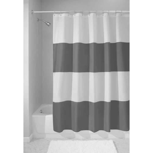 interdesign zeno mildew-free water-repellent shower curtain