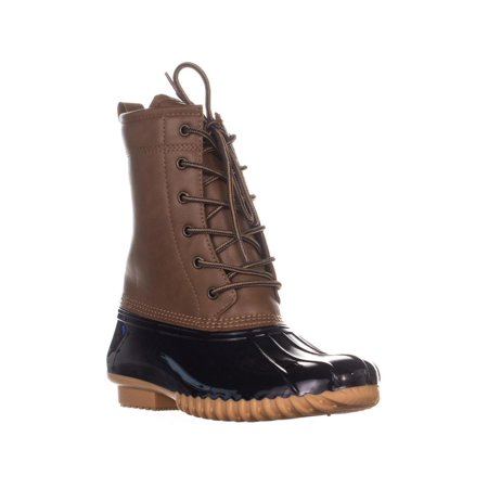 The Original Duck Boot by Sporto Ariel Lace Up Duck Rain Boots, Tan/Navy - image 6 of 6