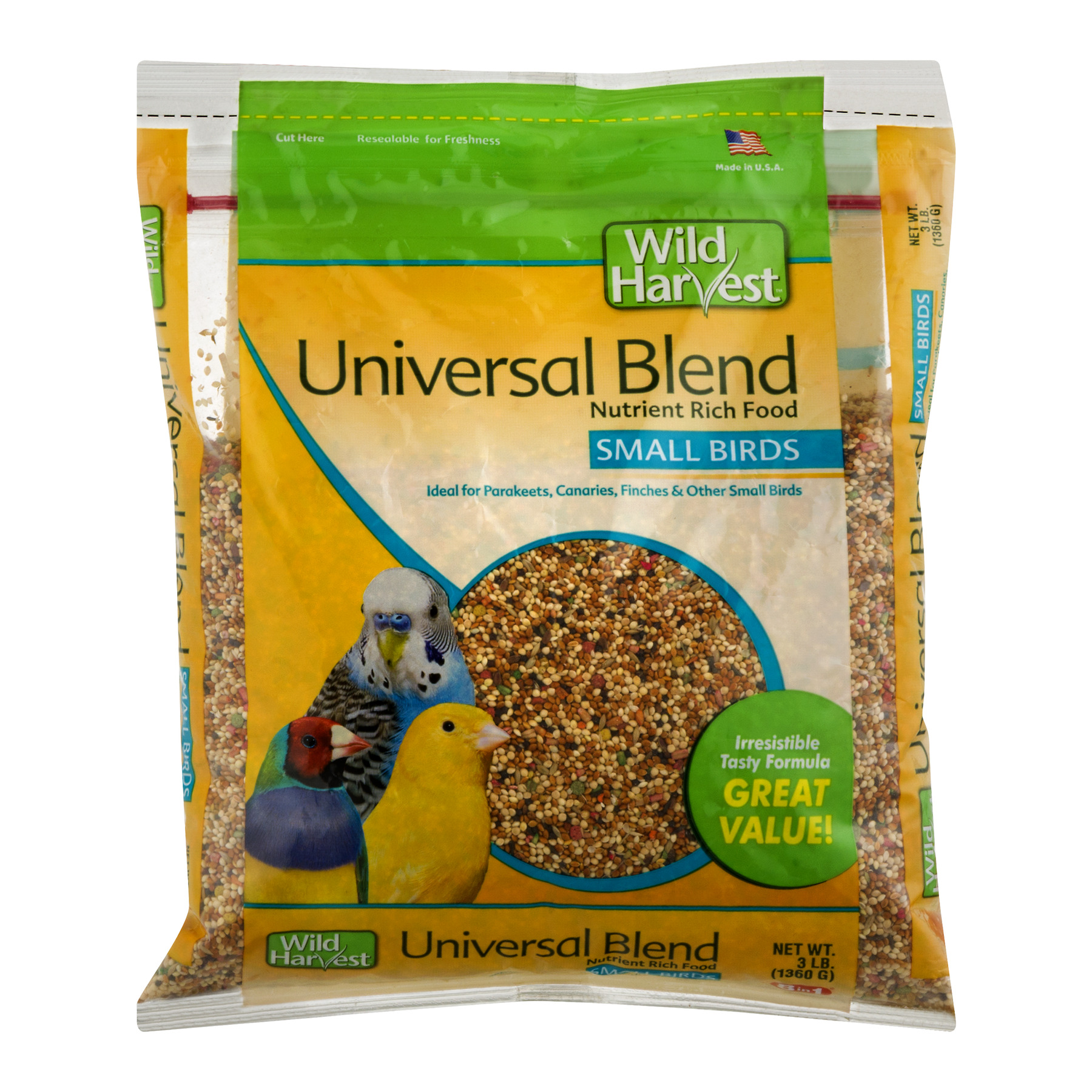 Wild Harvest Universal Blend Premium Small Birds Seed, 3 lbs