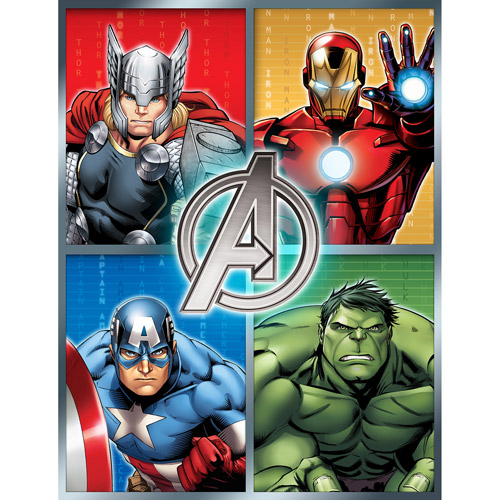 "Avengers 46"" x 60"" Plush Microfiber Throw"