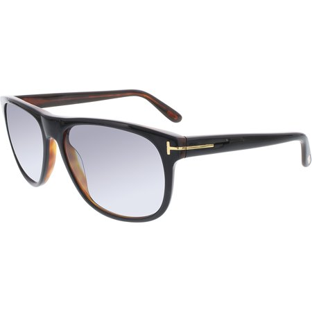 Tom Ford Men's Gradient Olivier FT0236-05B-58 Black Round Sunglasses