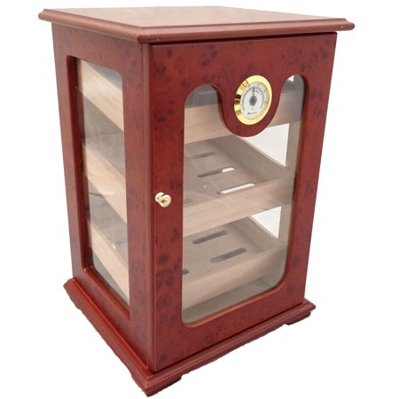 Tabletop Luxury Display Humidor 150 Cigars Storage Humidifier