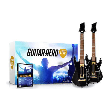 Xbox 360 Guitar Hero Live 2 Pack Bundle With Game (2017 Zero To Hero Game Developer Bundle)