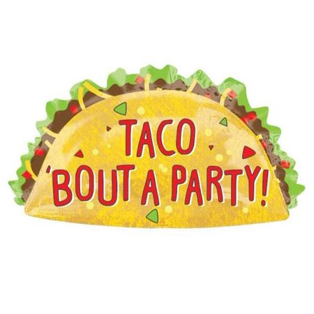 Taco Bout A Party Taco Supershape Party Balloon](Taco Party Decorations)