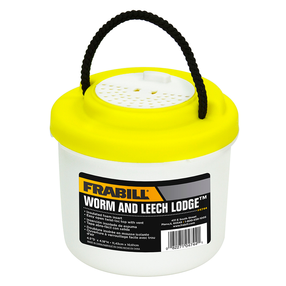 Frabill Small Worm & Leech Lodge - Bait Bucket