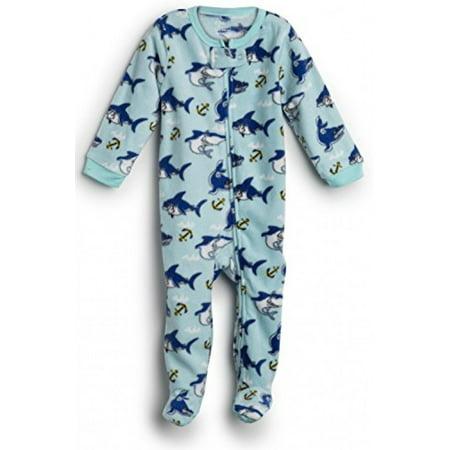 43e7b776c Elowel Pajamas - Elowel Baby Girls Footed Shark Fish Pajama Sleeper ...