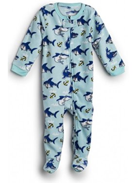 5654b34b45 Product Image Elowel Baby Girls Footed Shark Fish Pajama Sleeper 100% Cotton  2 Toddler