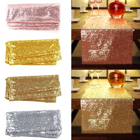 Glitter Sequin Table Runners, 12