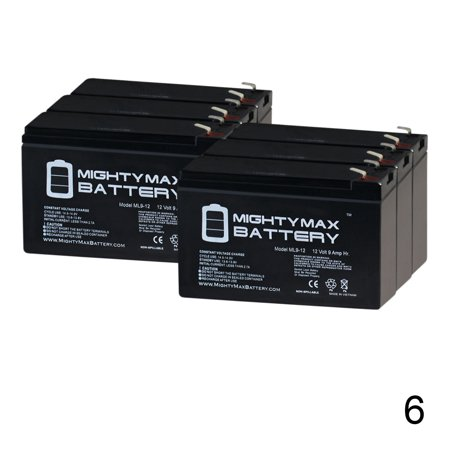 Pro Ups Series (12V 9Ah Battery Replaces Tycon Power UPS-PL2424-9 Pro Series - 6 Pack )
