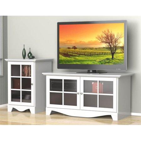 2-Pc Eco-Friendly Entertainment Set in White