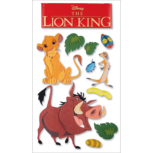 Disney Le Grande Dimensional Stickers, The Lion King