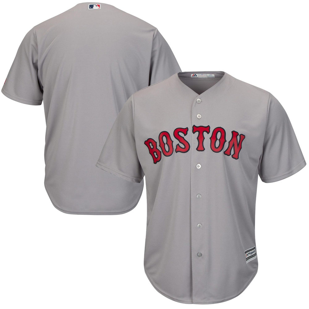 Men's Boston Red Sox Gray Road Cool Base Team Jersey by