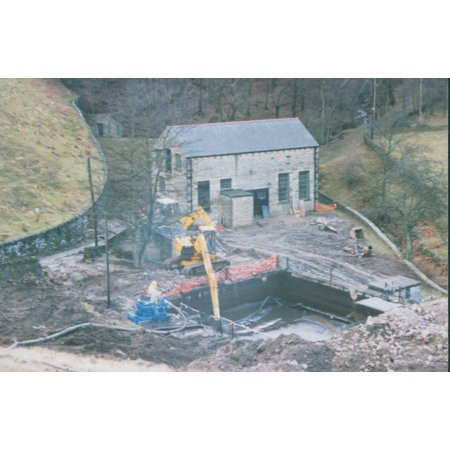 Old water treatment works. The treatment works at Holme Styes reservoir was abandoned in 1995. This Poster Print 24 x