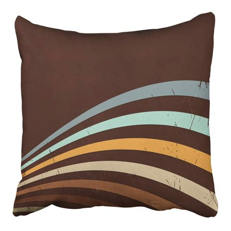 CMFUN Brown 70S Retro Abstract Lines 80S Style 1940S 1990S 40S Disco 1950S 1960S Pillowcase Cushion Cover 20x20 inch](Disco Style)