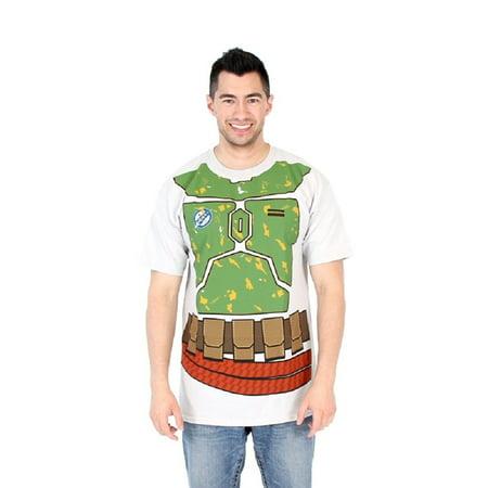 Star Wars I Am Boba Fett Flip Adult Silver T-Shirt