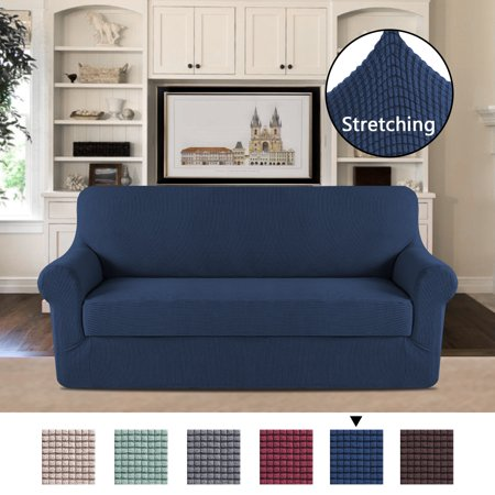Durable Sofa Slipcover Navy Couch Covers Furniture