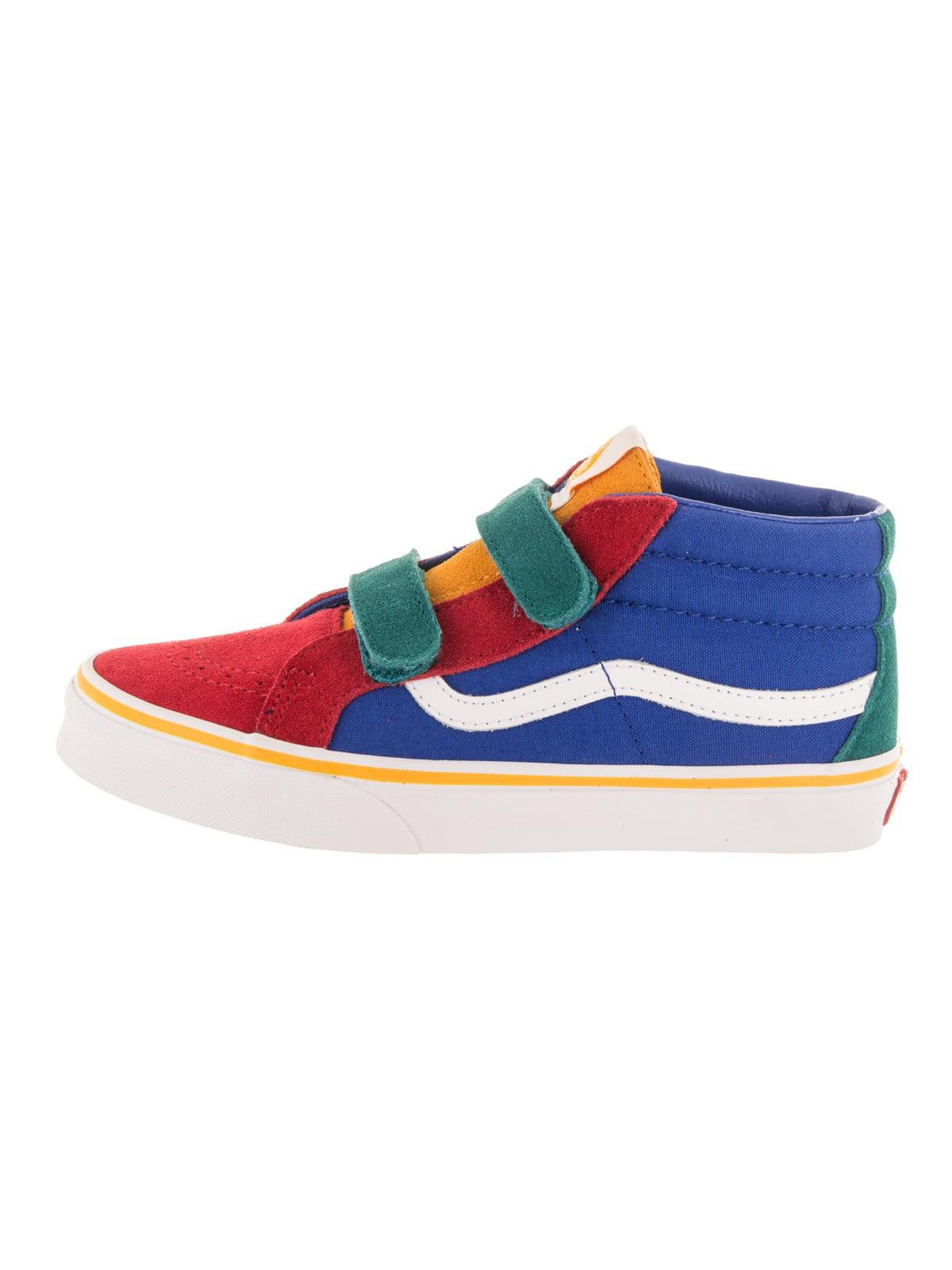 Vans - Vans Kids Sk8-Mid Reissue V (Primary Block) Skate Shoe - Walmart.com 5b9479a2b