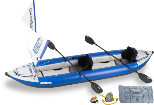 Click here to buy Sea Eagle 420X Explorer Inflatable Kayak QuikSail Package by Sea Eagle Boats, Inc..