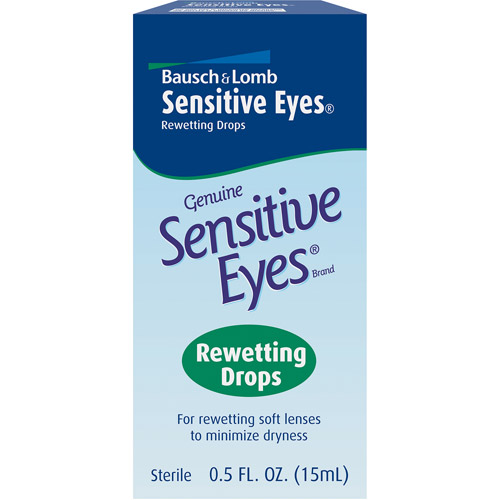 Sensitive Eyes: Genuine Rewetting Drops, 0.50 oz