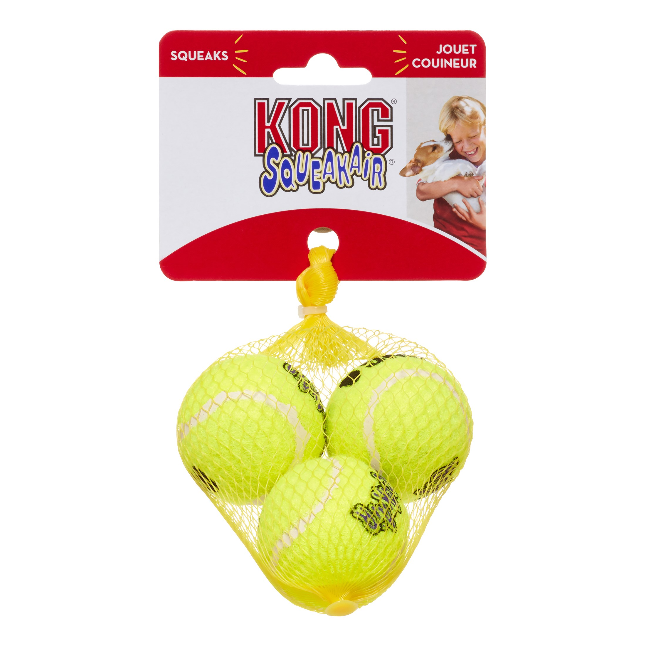 KONG AirDog Squeakair Ball Pack Dog Toy, Small, 3 Ct