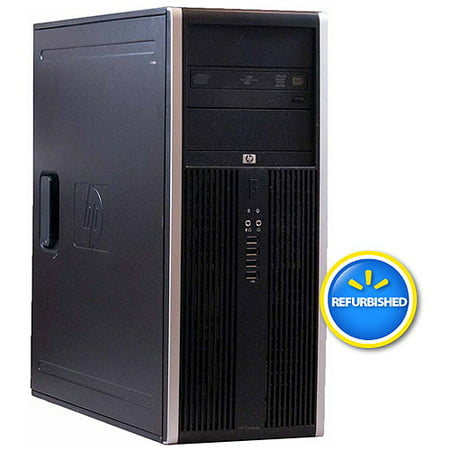 Refurbished HP 8000 Elite Mini Tower Desktop PC with Intel Core 2 Quad Processor, 4GB Memory, 1TB Hard Drive and Windows 10 Pro (Monitor Not