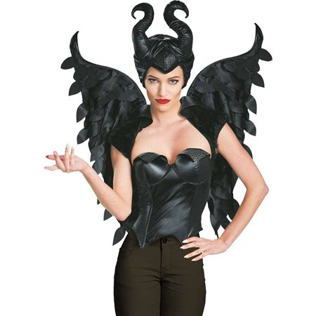 Disguise Women's Disney Maleficent Movie Maleficent Adult Wings Costume Accessory, Black, One Size (Maleficent Costume Adult)
