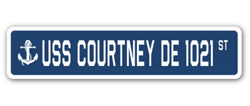 SignMission Proudly Served On USS COURTNEY DE 1021 Plastic License Plate Frame