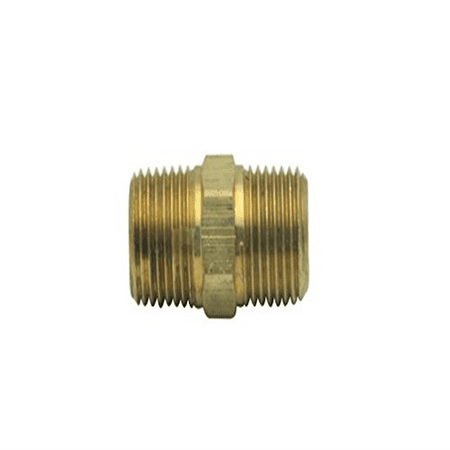 Generic Brass BSP Pipe Hex Nipple Fitting 3/8