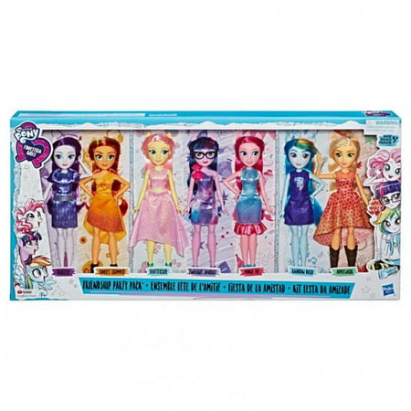 Hasbro HSBE1933 My Little Pony Equestria Girls Friendship Party, Pack of 3