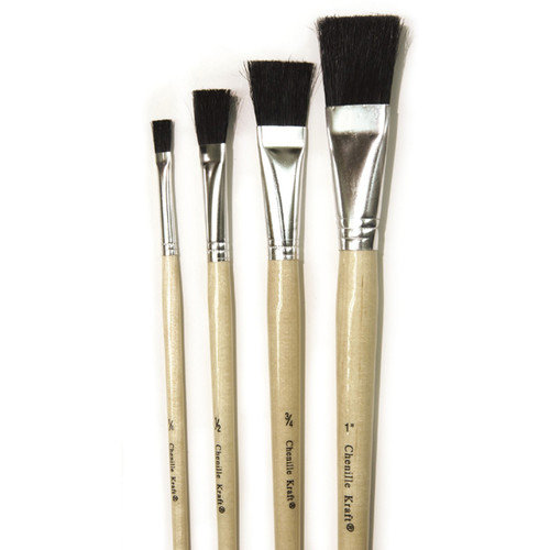 Chenille Kraft Company Stubby Easel Brushes 1 Wide 6-set