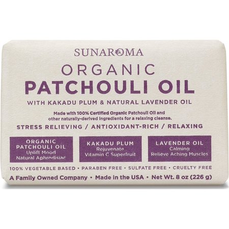Sunaroma Organic Soap, Patchouli Oil 8 oz (Organic Soap)