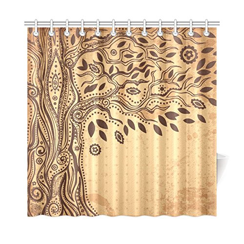 Mkhert Beautiful Unique Ethnic Tree Of Life Shower Curtain Home