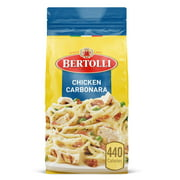 Bertolli Chicken Carbonara Frozen Meals With Spaghetti, Peas and Bacon in Alfredo Sauce, 22 oz.