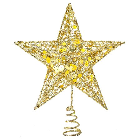Christmas Tree Topper.Christmas Tree Star Topper 9 8in Xmas Tree Topper Star Christmas Decoration Glittered Tree Top Star For Christmas Tree Ornament Indoor Party Home
