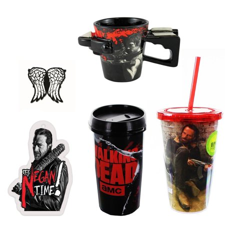 The Walking Dead Collector Bundle: Mug, Carnival Cups, Pin, Air Freshener