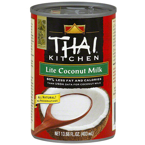 Thai Kitchen Lite Coconut Milk Impressive Thai Kitchen Lite Coconut Milk 13.66 Oz Pack Of 12  Walmart Design Decoration