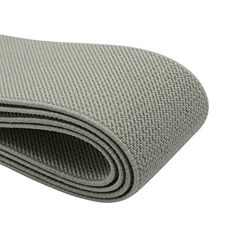 iCraft 1.5-Inch Wide Colored Double-Side Twill Woven Elastic,2 Yards,Grey 32130 - image 1 de 1