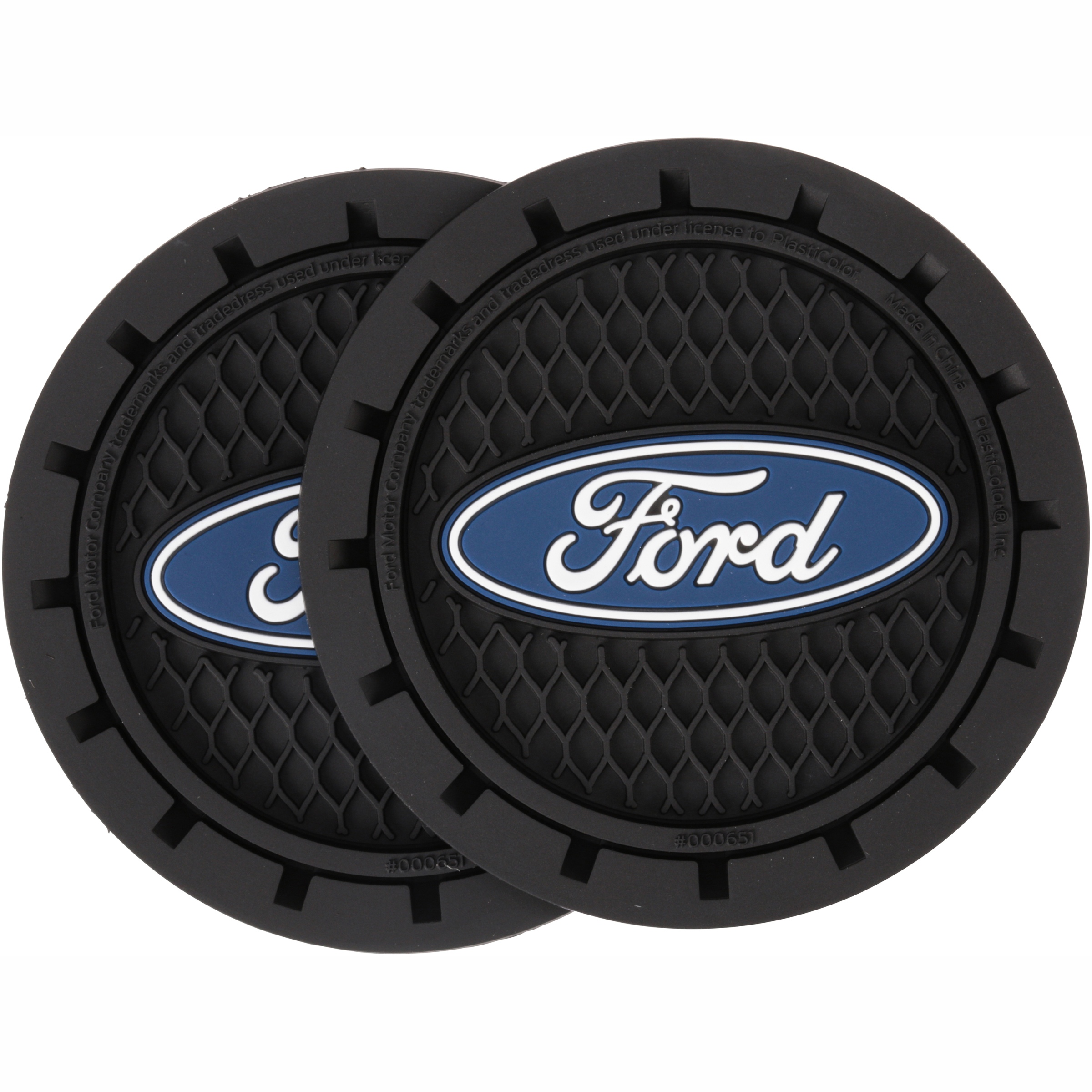 Ford Auto Cup Holder Coasters 2 ct Carded Pack
