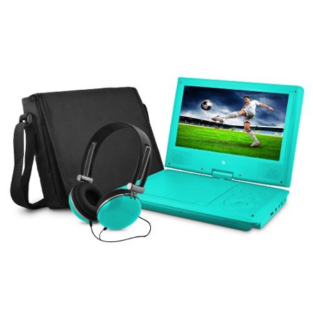 "Ematic Epd909 Portable Dvd Player - 9"" Display - 640 X 234 - Teal -"