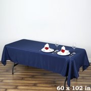 "BalsaCircle 60"" x 102"" Rectangle Polyester Tablecloth Table Cover Linens for Wedding Party Events Kitchen Dining"