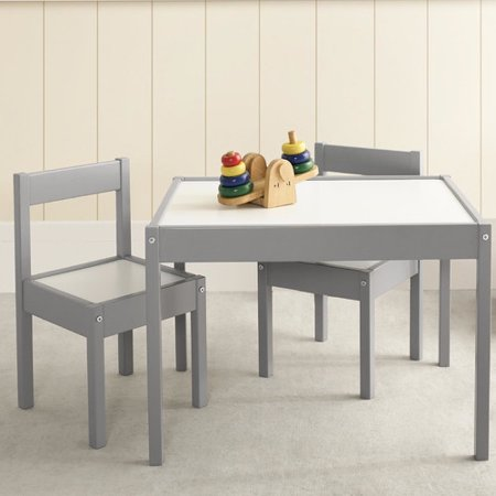 baby relax hunter 3 piece table and chair set in gray. Black Bedroom Furniture Sets. Home Design Ideas