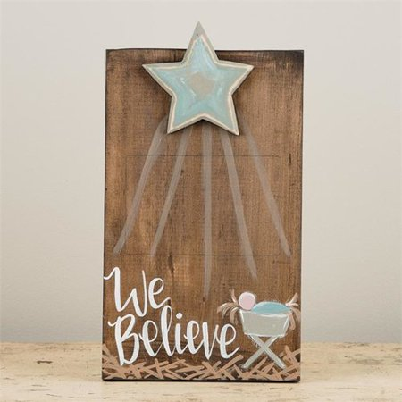 The Holiday Aisle Elks We Believe with Star Picture Frame - Star Photo Frame