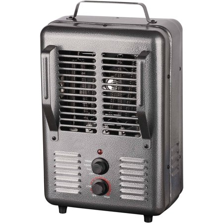 King PHM-1 120V Portable Electric Milk House Heater, Grey 120v Fan Forced Wall Heater