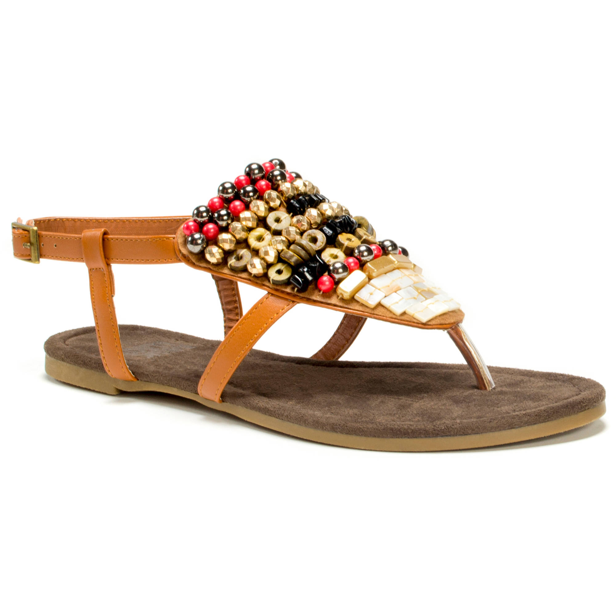 MUK LUKS Women's Harlow Beaded Sandals