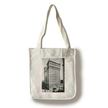 Spokane  Wa View Of Old National Bank Building Photograph  100  Cotton Tote Bag   Reusable