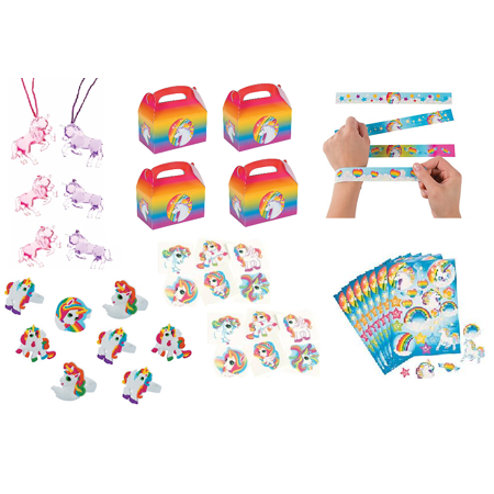 Unicorn Party Favor Bundle Set For 12 - Unicorn Party Ideas