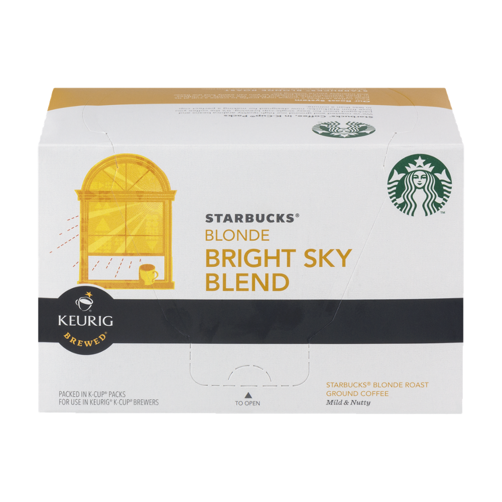 Starbucks Blonde Bright Sky Blend Coffee K-cups, 10 CT (Pack of 6) by Starbucks