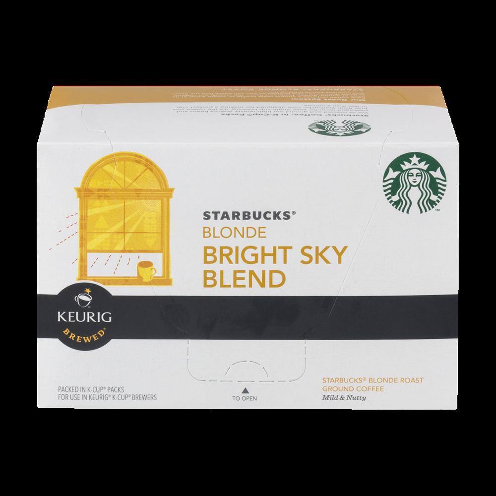 Starbucks Blonde Bright Sky Blend Coffee K-cups, 10 CT (Pack of 6) 762111986399