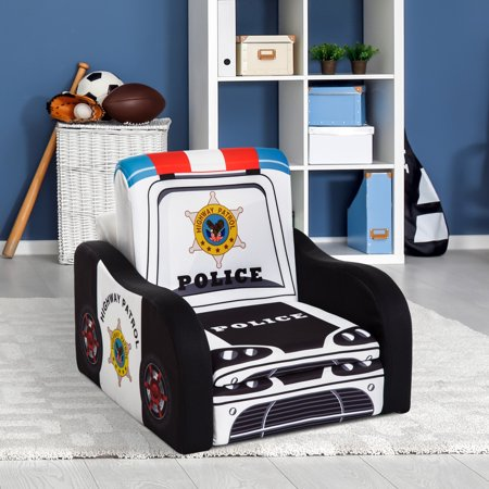 "17"" Multi Spandex Storage Sofa Chair for Kids - Police Car"